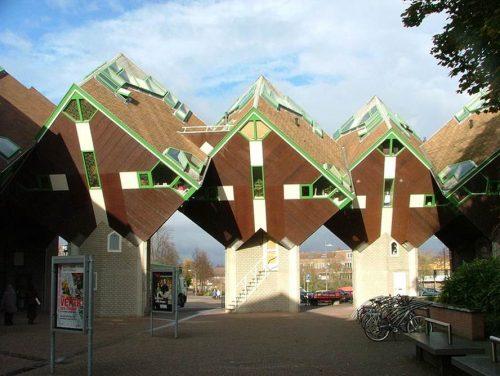 desain unik rumah kubik belanda