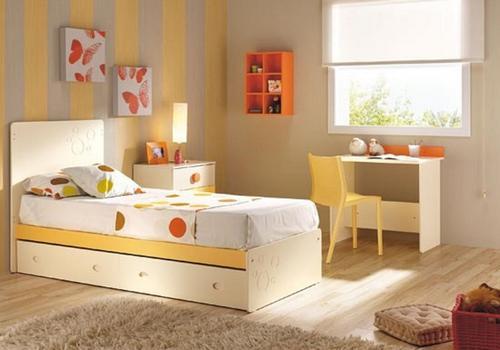 Desain warna tan coklat untuk kamar anak-anak